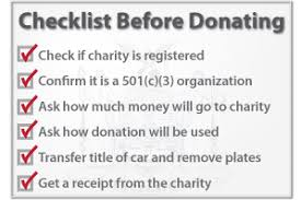 Checklist to Donate a Car